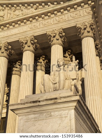 Supreme Court building in Washington, DC, United States of America  - stock photo