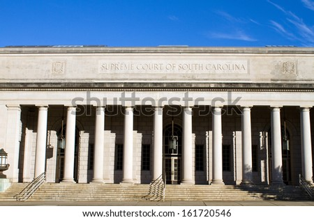 Supreme Court building of South Carolina located in Columbia, SC, USA. - stock photo