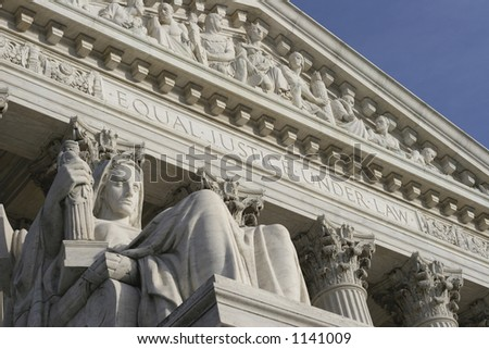 Supreme Court - from left view - stock photo