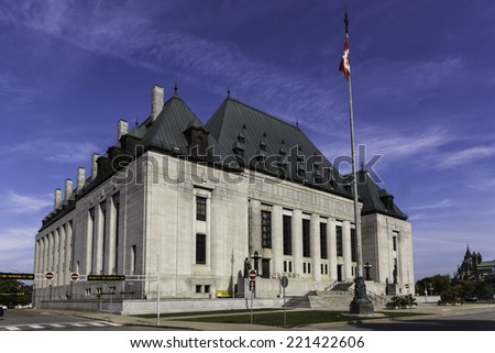 Supreme Court of Canada building - stock photo