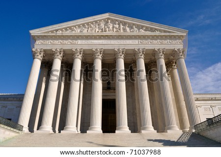 Supreme Court of United States of America - stock photo