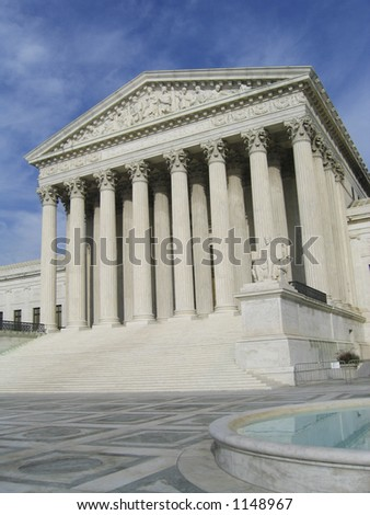 Supreme Court- tall view with pool - stock photo