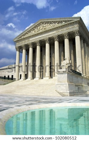 Supreme Court, Washington, DC - stock photo