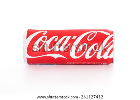 SURATTHANI THAILAND - March 16,2015: Photo of Coca-Cola products.Coca-Cola registered trademark of The Coca-Cola Company in the United States since March 27, 1944