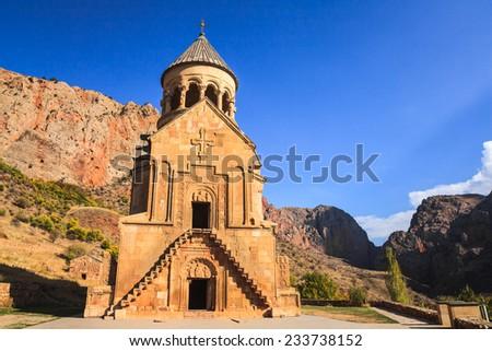 Surb Astvatsatsin Church of Noravank Monastery in Armenia - stock photo