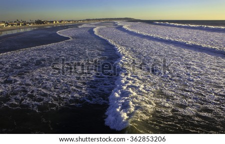 surf at pacific beach - stock photo