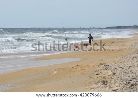 Surf Fisherman on the beach