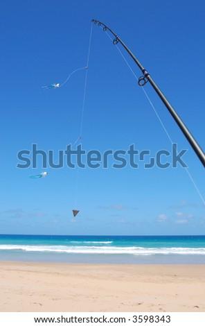 Surf Fishing Rod - stock photo