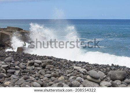 Surf in the ocean - stock photo