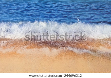 Surf On The Black Sea - stock photo