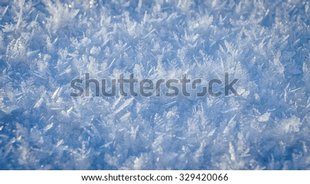 surface covered with ice crystals - stock photo