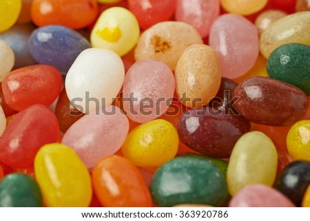 Surface covered with jelly beans - stock photo