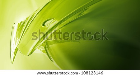 Surface Detail of Green Metal Object - stock photo