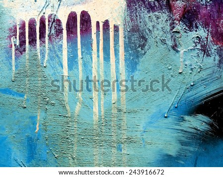 Surface metal with old paint and dirty smudges - stock photo