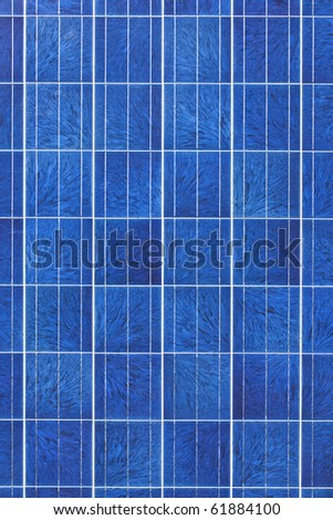 Surface of alternative energy photovoltaic solar panel - stock photo