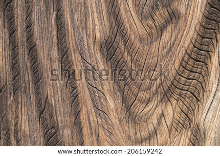 surface of dynamic curve wood grain pattern - stock photo