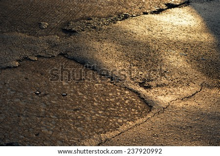 surface of street - stock photo