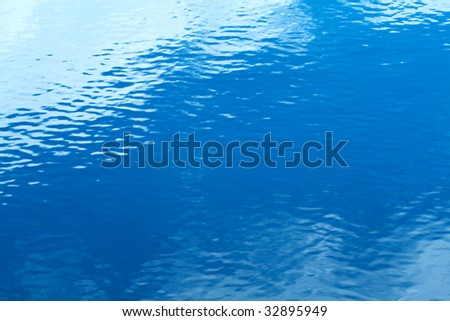Surface of the sea. Calm blue water. Abstract natural background - stock photo