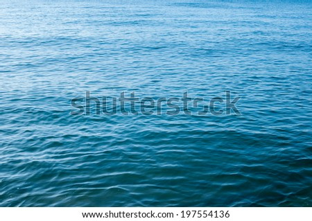 Surface of the water in tropical sea. - stock photo