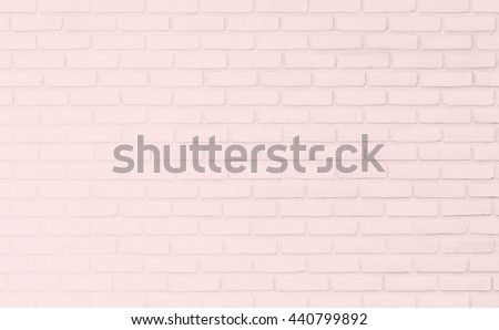 Surface pink wall of brick wall pastel tones for use as background. The new design of modern white stone wall. Pattern of decorative gray stone wall surface. - stock photo