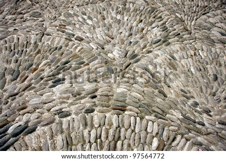 surface texture of stone wall decoration - stock photo