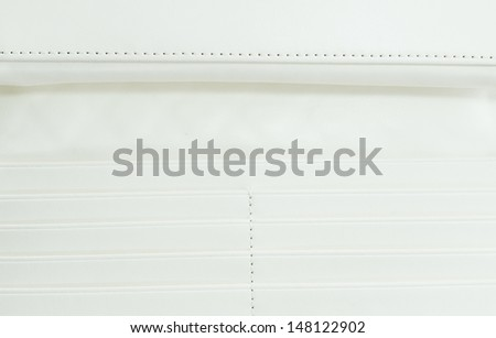 Surface white leather wallet - stock photo