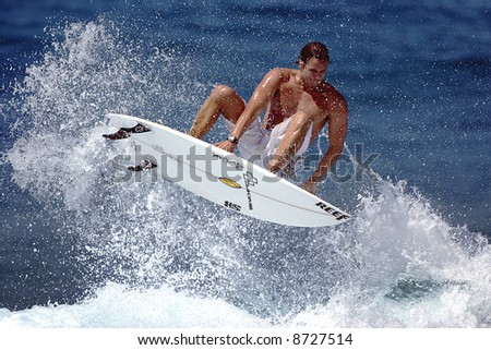 surfer air - stock photo