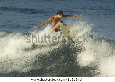 Surfer. Brazilian. - stock photo