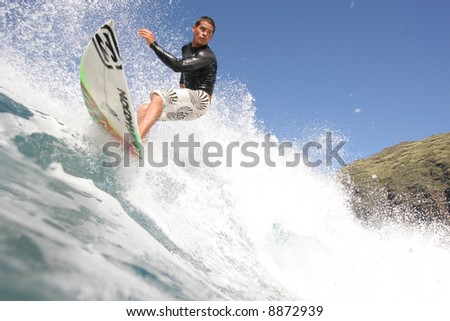 surfer close up Brian Pacheco - stock photo