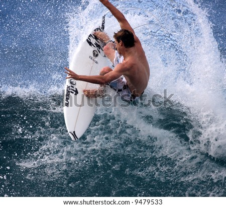 surfer in action - stock photo