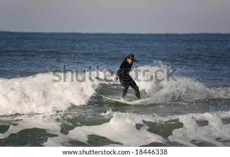 surfer making a Forehand Cutback
