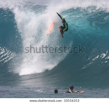 surfer wipe out - stock photo