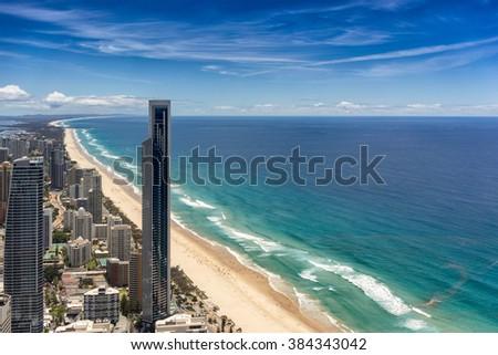 Surfers Paradise on the Gold Coast - stock photo