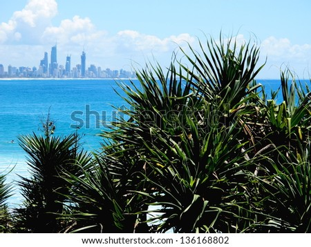 Surfers  Paradise View 1 - stock photo