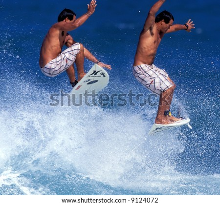 surfing air sequence by Braden Dias - stock photo