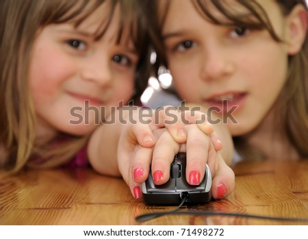 Surfing in internet together - stock photo