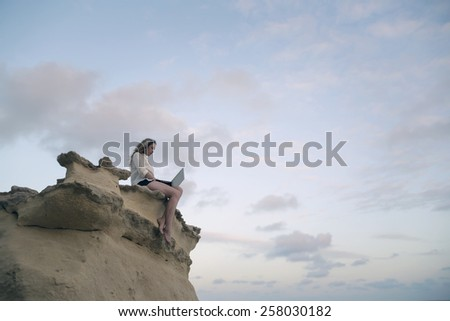 Surfing the Net  - stock photo
