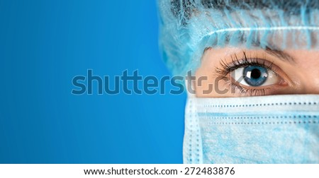 Surgeon gazing hospital close up shot - stock photo