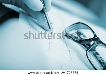 surgeons during open-heart surgery - stock photo