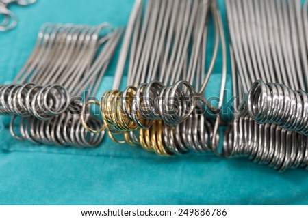 surgical instruments for surgery - stock photo