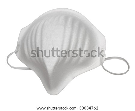 Surgical mask, from my influenza series - stock photo