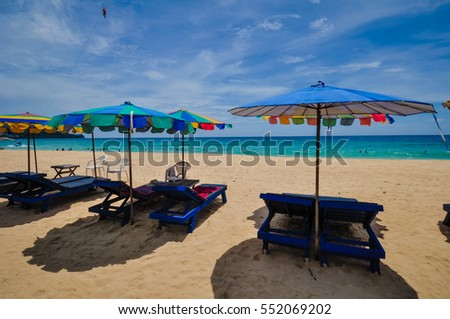 Surin beach in Phuket, Thailand