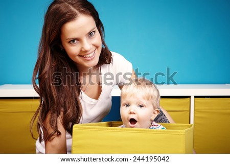 Surprise in box - stock photo