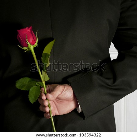 Surprise Red Rose - stock photo