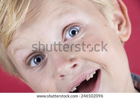 surprised child - stock photo