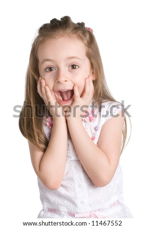 surprised kid - stock photo