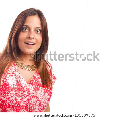 Surprised young girl - stock photo