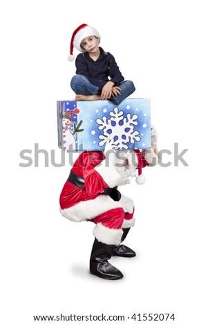 surprising christmas gift - stock photo