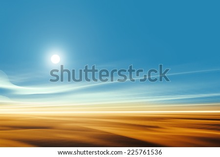 Surreal desert landscape - stock photo