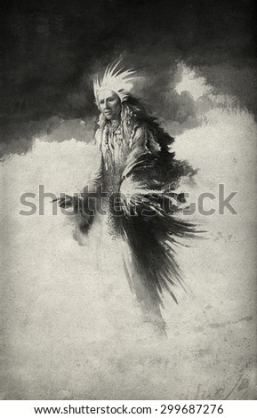 Surreal figure - stock photo